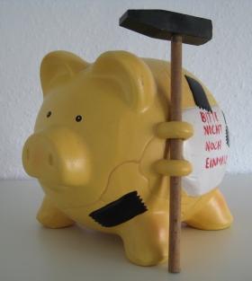 Sparschwein Wechselgeld-Sparen