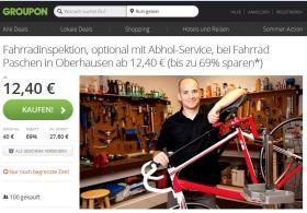 groupon deal fahrrad inspektion paschen oberhausen