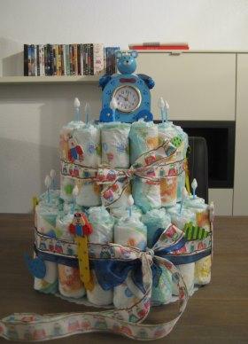 Windeltorte Geschenkidee zur Geburt