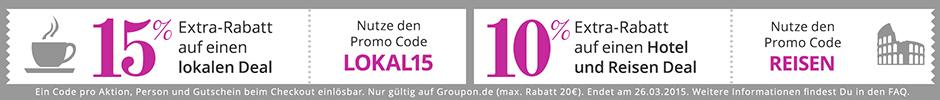 Groupon-Extra-Rabatt Maerz 2015