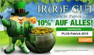 Plus-Gutschein zum St Patricks Day