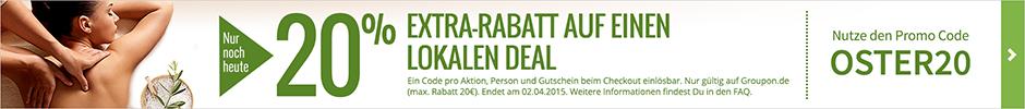Groupon Extra Rabatt zu Ostern