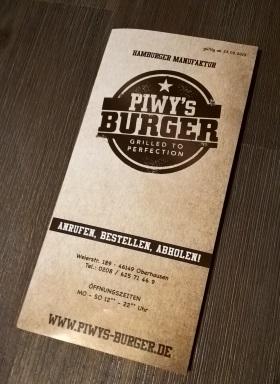Prospekt Piwy's-Burger Oberhausen